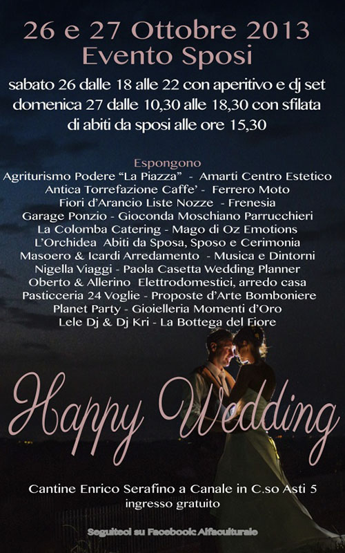 happy wedding 2013 canale