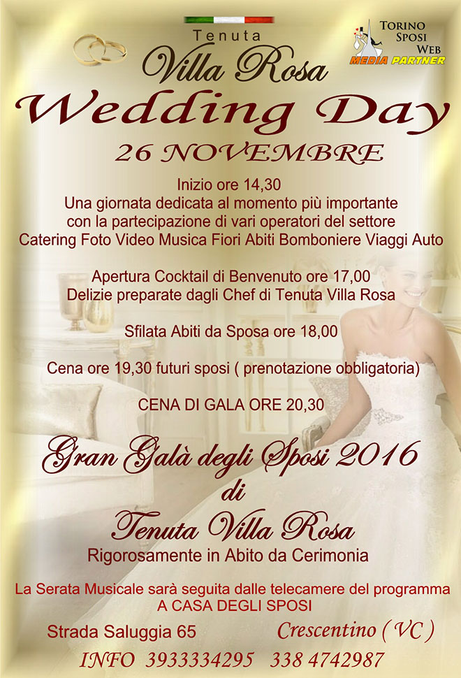Wedding Day Tenuta Villa Rosa