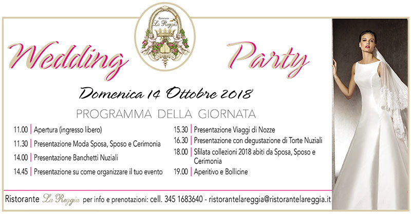 WEDDING PARTY RISTORANTE LA REGGIA